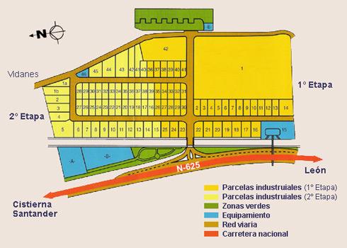 Plano del Polígono Industrial de Cistierna
