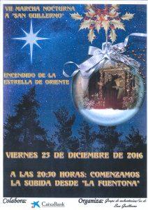 Cartel de la VII Marcha Nocturna a San Guillermo