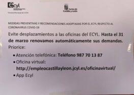Renovación automática de la tarjeta de demanda de empleo (hasta el 31 de marzo)