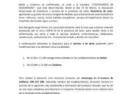 Contagiados de solidaridad se va a la Montaña Oriental Leonesa, Cistierna y Boñar (3 de abril de 2020)