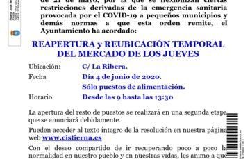 Bando: reapertura y reubicación del mercado (03-06-2020)