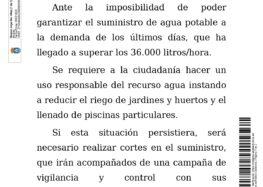 Bando control suministro agua potable (09-07-2020)